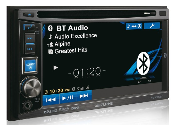 ALPINE IVE-W530BT, USB